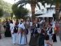 A courtship folk dance on an Ibiza beach Cala san Vicente.