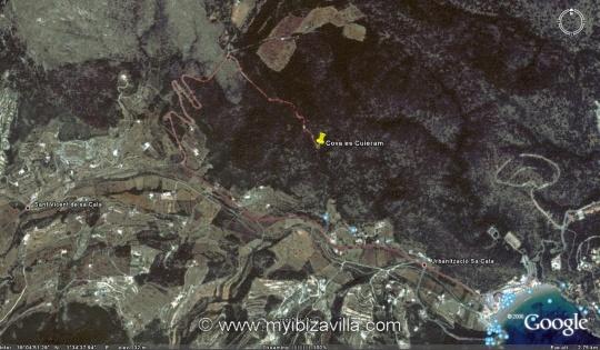 es cuieram cave ibiza google map