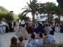 Folk dance Ibiza at Cala san vicente in August.