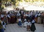 A folk dance in Ibiza with music.