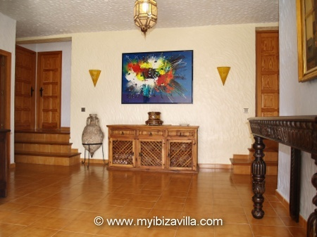 Entrance hall of this holiday villa.