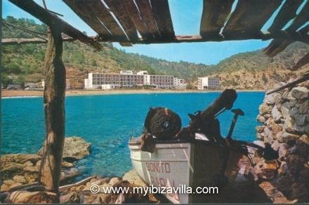 Cala san Vicente beach of Ibiza taken in 1969.