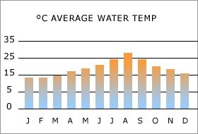 Ibiza climate: average water temperature per month