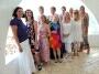 Ibiza villa groeps foto van klanten van Noorwegen die een verjaardag feestje hielden