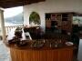 Ibiza villa, eten voor het Noors verjaardag feestje gebracht door Can Gat, juni 2010