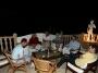 Chill out na dinner van het Noors verjaardag feestje op de Ibiza villa, juni 2010
