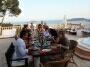 Ibiza villa groot diner tafel van de Noorse huurders tijdens hun verjaardag feestje