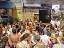 Space Ibiza disco in the daytime