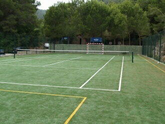 Tennis court near Ibiza villa to rent