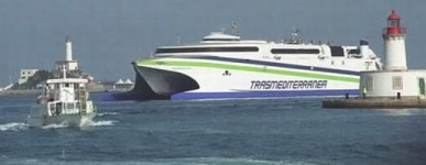 Trasmediterranea super fast ferry to Ibiza